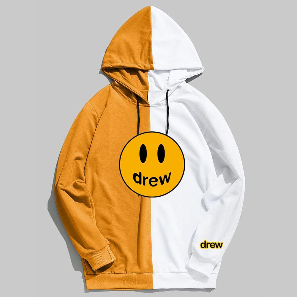Fashion 2020 Hoodies Men Justin Bieber The Drew House Print Summer Thin Mens Sweatshirt Streetwear Hoodie Harajuku Hooded Male