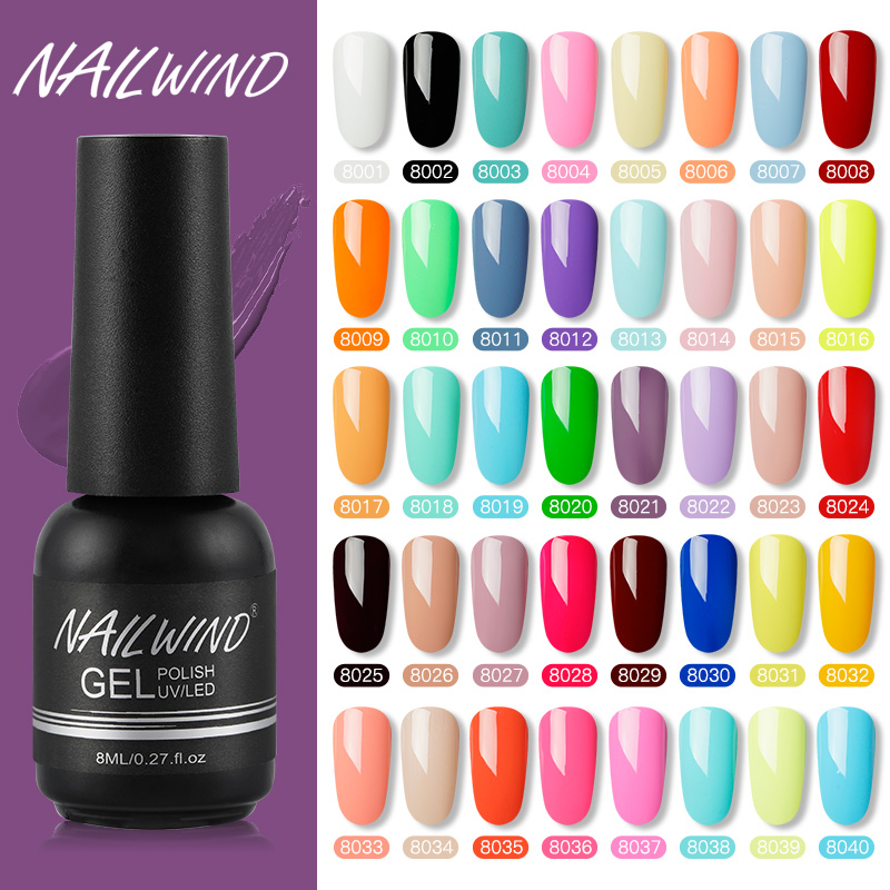 Nailwind Gel Nail Polish Pure Color Semi Permanent Base Top Need UV LED Lamp For Manicure Varnish Paint Hybrid  Nail Gel