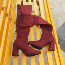 snow woman large size womens shoes knee overknee high Platform boots Thin