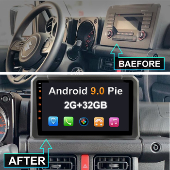 "YAZH Android 9.0 Car Unit Multimedia For Suzuki Jimny UTE 2019 2020 With 9.0"" 2.5D IPS Display Carplay Android Auto Mirror Link"