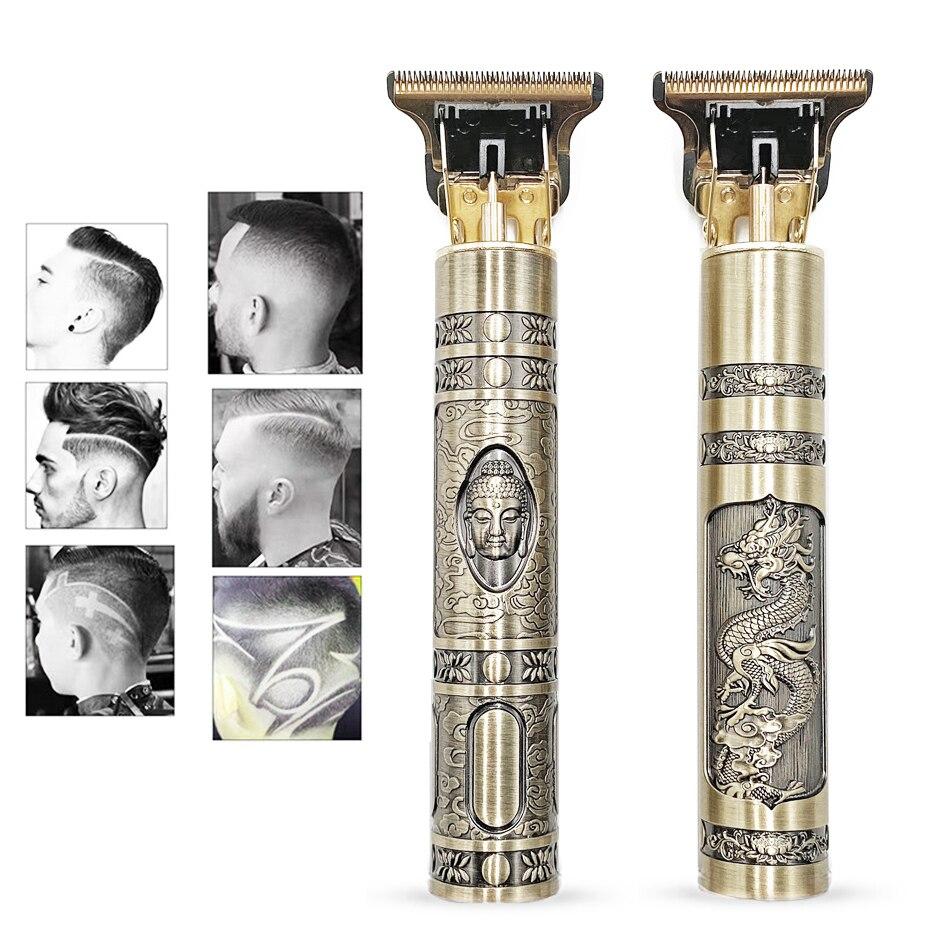 Перезаряжаемая машинка для стрижки волос USB T9 2021, электрический триммер для волос, Беспроводная Бритва, триммер 0 мм, Мужская Парикмахерская Машинка для стрижки волос для мужчин
