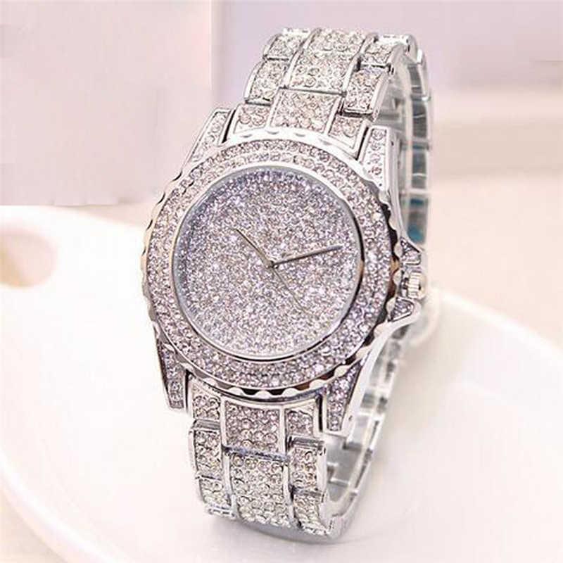 Women Ladies Bling Diamonds Crystal Strap Watch Fashion Luxury Stainless Steel Quartz WristWatches women watches часы женские|Women's Watches| |  - title=