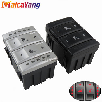 New Silver & Black Seat Heating Button Control Switch For Ford Mondeo MK4 S-MAX Galaxy MK 3 6M2T 19K314 AC 6M2T19K314AC image