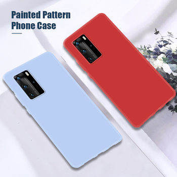 Smartphonhe Candy Case for Huawei P30 Pro Lite Nova 5T Silicone Luxury Cases for Huawei P20 P40 Pro Lite Cover Back And Side image