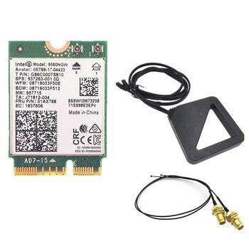 Внешний двухдиапазонный беспроводной комплект антенн MHF4 U, L, для Intel 9560 9560NGW 1,73 Гбит/с, Wi-Fi, 802.11ac, Bluetooth 5,0, карта Windows 10