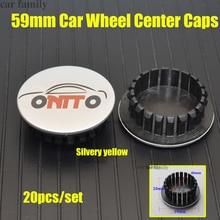 Колпачки для ступицы, автомобильные колпачки для обода колеса, 59 мм, для Lanos Orlando Captiva Lacetti Aveo Niva 20 шт./компл.