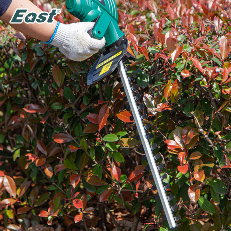 EAST Cordless Hedge Trimmer 18V Li-ion Battery Pruning Tools Power Tools Rechargeable Battery Cutter Green ET1406