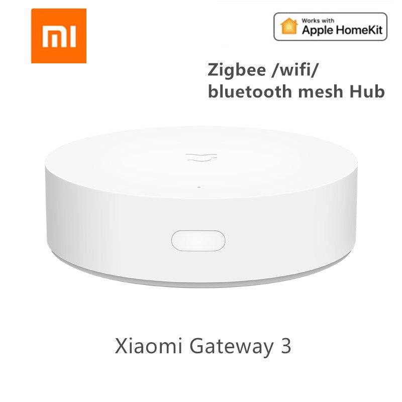 Newest Xiaomi Mijia Smart Multi-Mode Gateway ZigBee WIFI Bluetooth Mesh Hub Smart Home Hub Work With Mi Home APP Apple Homekit(China)