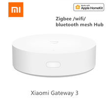 Xiao mi jia novo gateway zigbee wifi bluetooth, em malha, hub de casa inteligente, funciona com aplicativo mi home apple homekit,(China)