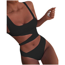 Sexy White One Piece Swimsuit Women Cut Out Swimwear Push Up Monokini Bathing Suits Beach Wear Swimming Suit For Women #BL4 sexy one piece swimsuit swimming suit for women high cut swimwear push up shoulder off brazilian monokini biquini bathing suits