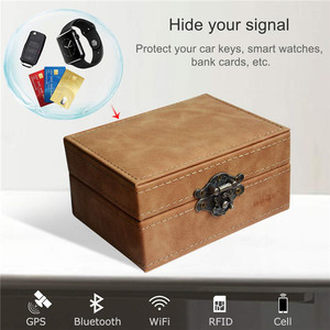Image 5 - Faradaya pudełko centralny zamek z blokująca sygnał samochodowy pudełko całkowity sygnał blokowanie dla inteligentne klucze RFID blokada sygnału etui w stylu Retro
