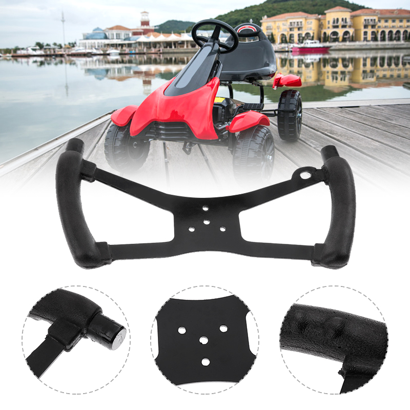1 Pcs Black 340x170 Mm Go Kart Steering Wheel Butterfly Style For Riding Lawn Mower Racing Go Kart Accessories 2019 New