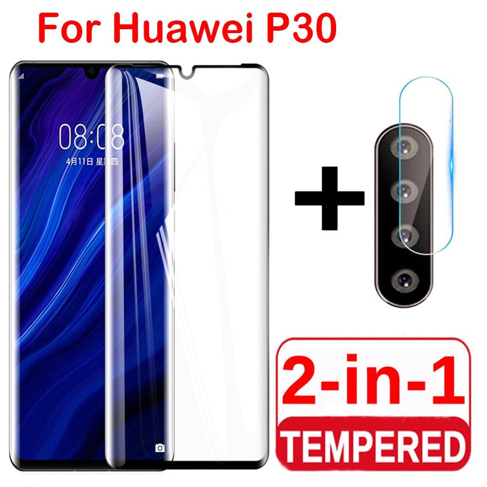 Защитное стекло 2 в 1 для Huawei P30 P30lite, защита экрана камеры, закаленное стекло для Huawei P20 lite P30 Pro, пленка для объектива