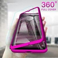 Funda de teléfono para Samsung Galaxy A60, A70, A80S, A40, A50, A10S, A10, A10E, A20, A20S, A20E, A30, A30S, A50S, 360 grados con cubierta de pantalla de vidrio