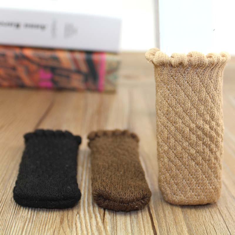 Knitting Table Foot Cover Non Slip Table Legs Cover Furniture Feet Sleeve Pad Stool Leg Protecor 4pcs/lot Cloth Floor Protection