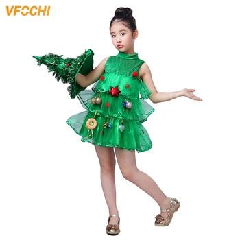 VFOCHI New Arrival Girls Christmas Dress Halloween Costume Children Tree Kids Clothing Sets