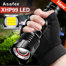 Powerful XHP99 LED Flashlight Tactical Torch 9-core 1800LM P