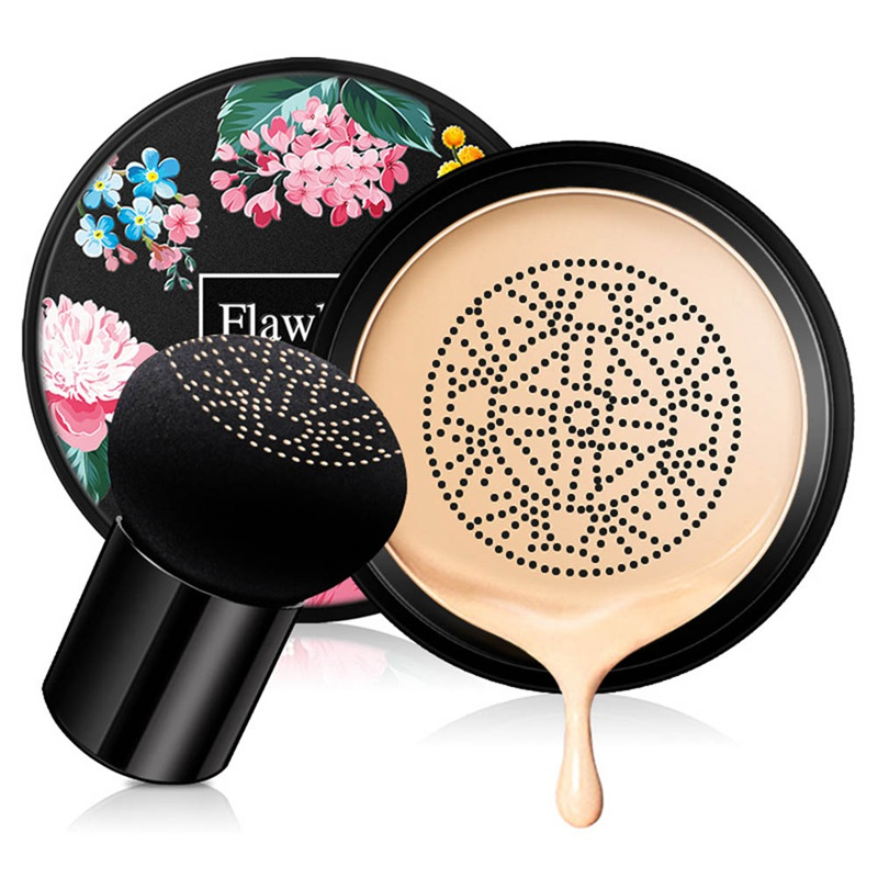 BB Air Cushion Waterproof Brighten Face Mushroom Head CC Cream Foundation Concealer Whitening Makeup Cosmetic image