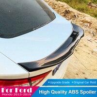 For Ford Mondeo 2013 2014 2015 2016 2017 2018 2019 Rear Spoiler Carbon Fiber Car Trunk Tail Wing Lip Black Spoiler