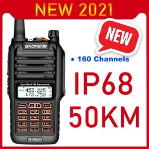 Image 1 - 2021 Walkie Talkie a lungo raggio 50km Baofeng UV 9R Plus 160CH Radio bidirezionale VHF UHF Radio Station UV9R Plus CB Ham HF Transceiver