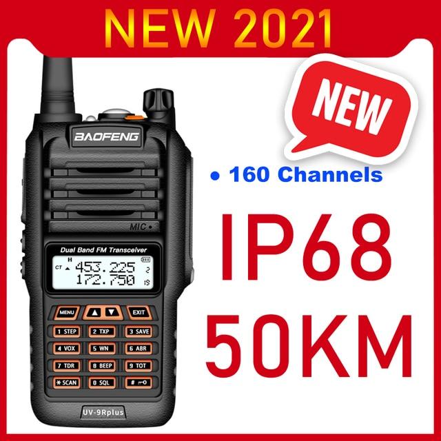 2021 Walkie Talkie a lungo raggio 50km Baofeng UV 9R Plus 160CH Radio bidirezionale VHF UHF Radio Station UV9R Plus CB Ham HF Transceiver