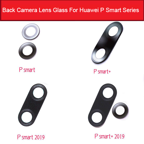 Rear Back Camera Glass Lens For Huawei P Smart 2019 Plus Camera Glass Lens With Adhesive Sticker Repair Parts Replacement