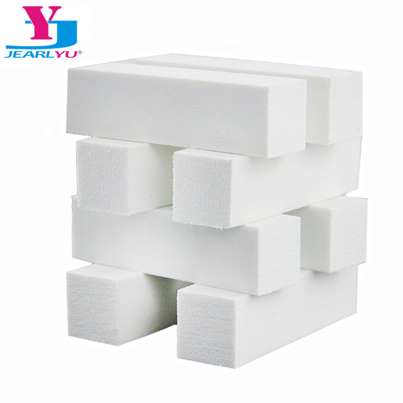 10pcs/Lot High Quality White Nail Block Buffer Nail Art Buffer Sanding Block Files Manicure DIY Polish Tool Buffing Unas Pulidor