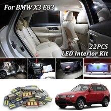 22 шт. белый Canbus безошибочный светодиодный комплект ламп для салона автомобиля для BMW X3 E83 led интерьерные лампы для чтения