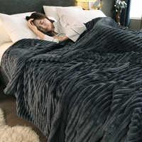 Pele-friendly coral veludo sofá cama cobertor multiuso casa escritório viagem nap cobertor macio quente quatro estações cobertura