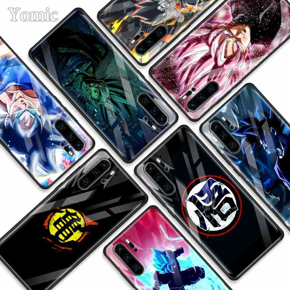 Dragon Ball Super Son Goku Tempered Glass Cases for Huawei P30 Pro P10 P20 Lite Mate 20 Lite Honor 20 Pro 8X Phone Cover