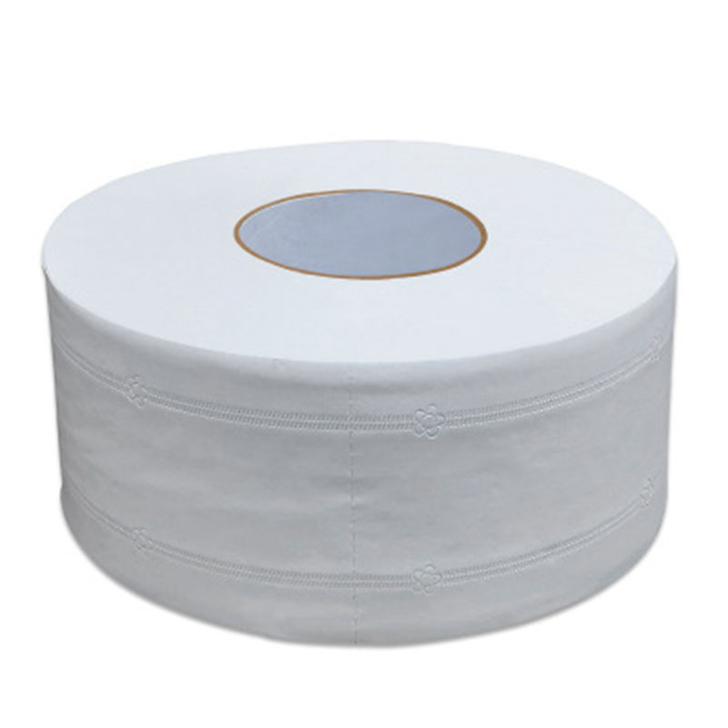 1Pcs Top Quality Jumbo Roll Toilet Paper 4-Layer Native Wood Soft Toilet Paper Pulp Home Rolling Paper Strong Water Absorption