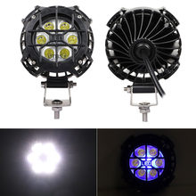 60W LED Spot Pods Round Work Light Bar Spot Off Road Driving Fog Lamp Bright 4000LM Light for Truck Car ATV SUV ATV Jeep Boat(China)