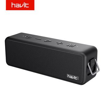Havit M76 przenośny głośnik bezprzewodowy Bluetooth lepszy bas 15H czas odtwarzania 18m zasięg Bluetooth IPX7 wodoodporność 16w 3600mAh tanie i dobre opinie Liniowe Audio Przenośne Baterii Z tworzywa sztucznego Dwukierunkowa 2 (2 0) Funkcja telefonu NONE Metal 25 w HV-M76 Inne