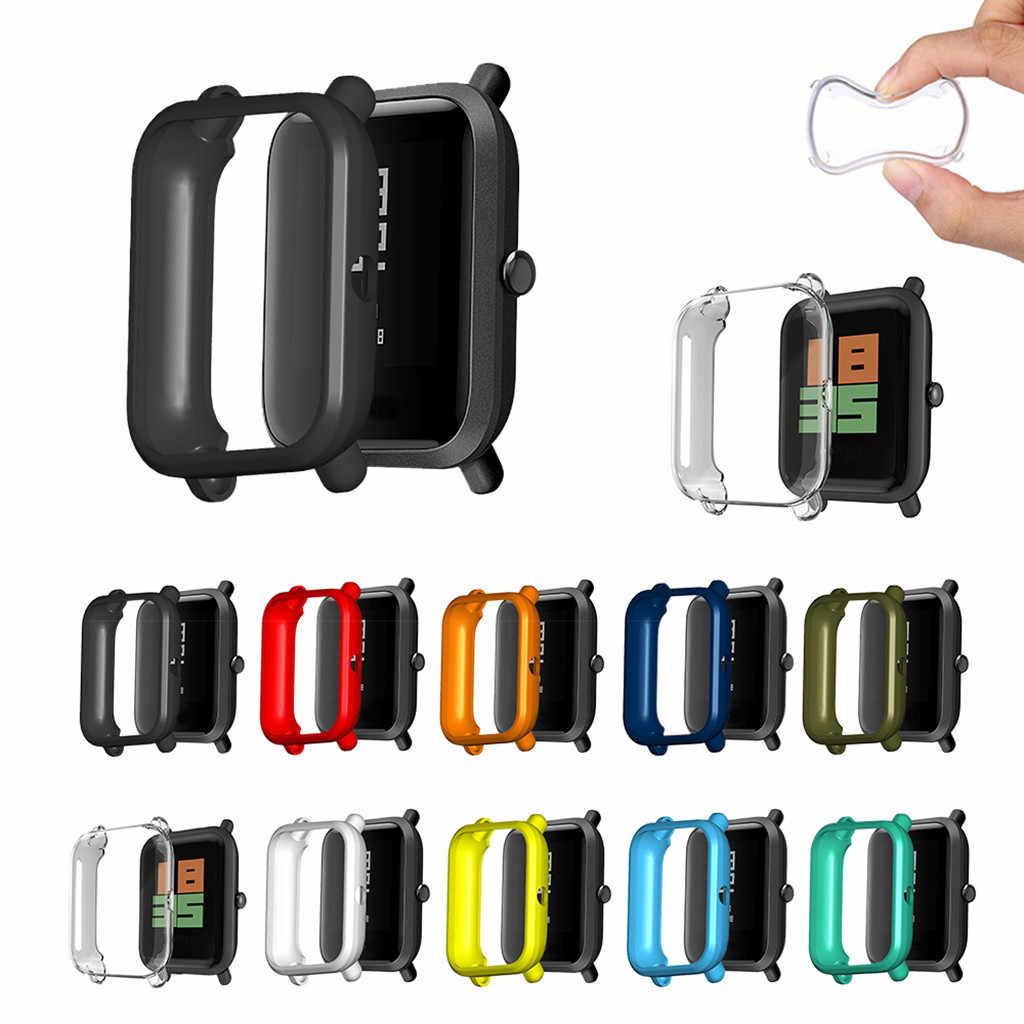 Miękkie etui TPU pokrywa Shell Protector dla Xiaomi Huami Amazfit Bip młodzieży/Lite ochraniacz ekranu inteligentny zegarek Protector akcesoria
