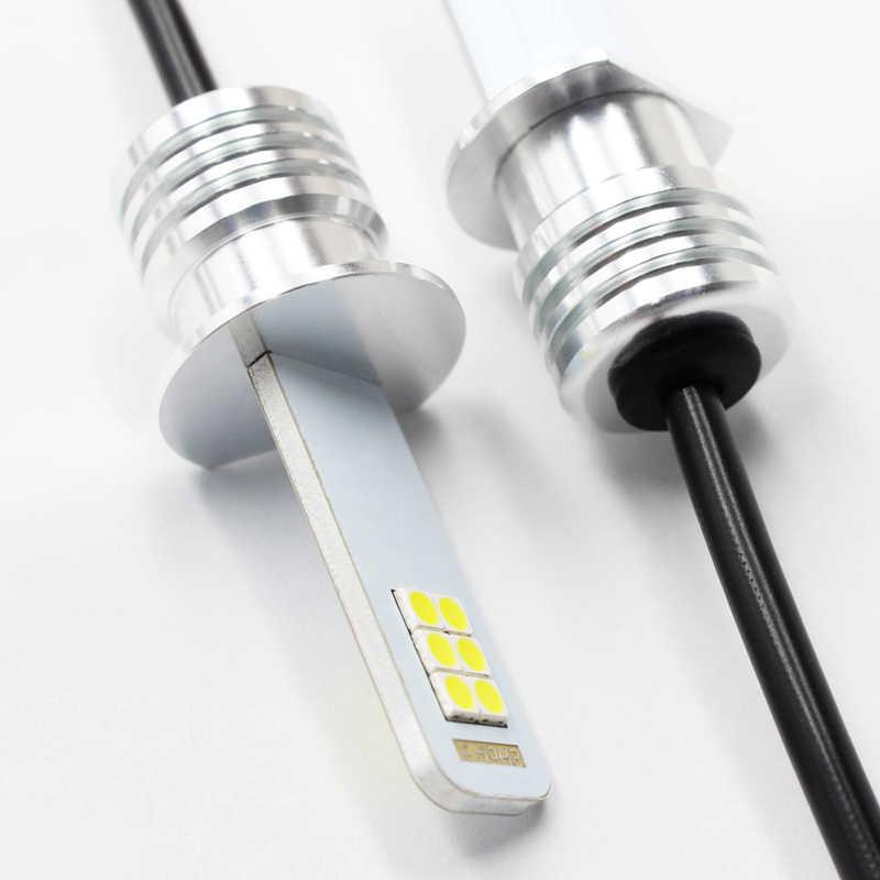 2x H1 Led sis lamba ampulü oto araba Motor kamyon 12w 12V 24V beyaz H1 LED araba ışık yüksek güç LED ampuller sürüş koşu işık DRL