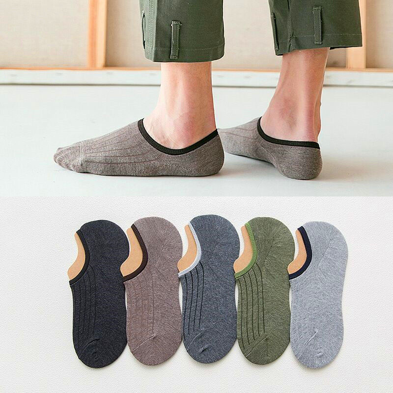 5 Pairs Spring Summer Men Cotton Ankle Socks For Men's Business Casual Solid Color Short Socks Male Sock Slippers Meias