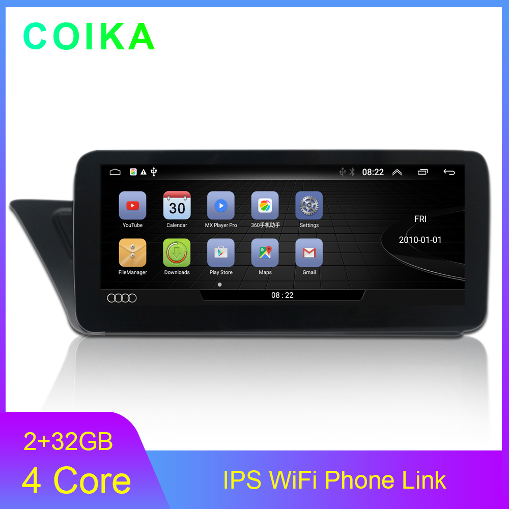 Android 10.0 System Car GPS Navi Radio For <font><b>Audi</b></font> <font><b>A4</b></font> A5 09-16 WIth 2+32G RAM BT SWC WIFI Carplay Android Auto Touch Screen Stereo image