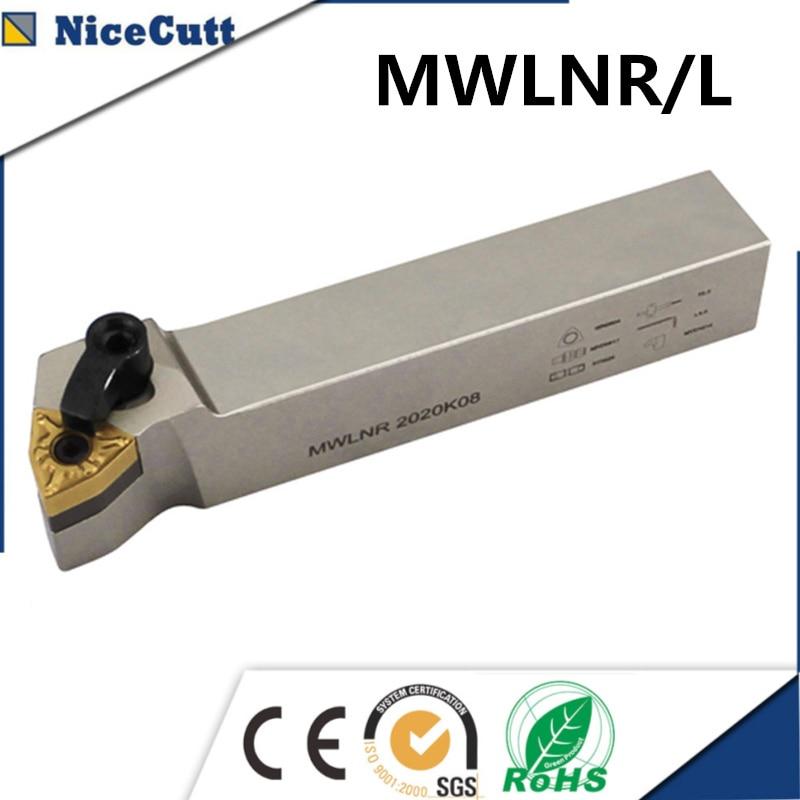 Lathe Tool Holder MWLNR2525M08 MWLNL2525M08 External Turning Tool Holder For Tungsten Carbide Insert WNMG080408 Nicecutt