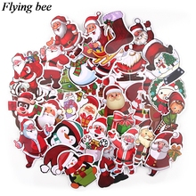 20sets/lot (36pcs/set) Flyingbee Christmas gifts Sticker Santa Claus Anime Stickers for DIY Luggage Laptop Car Stickers X0723