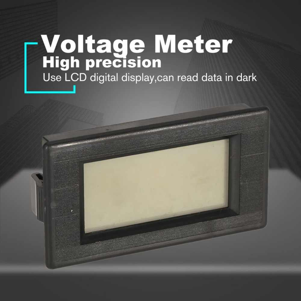 AC 70-500V 2 สาย LCD Digital Display Voltmeter แรงดันไฟฟ้า Meter เครื่องทดสอบโวลต์สำหรับรถยนต์แบตเตอรี่รถจักรยานยนต์รถเข็น