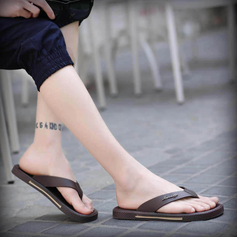 ฤดูร้อน 2020 ชายรองเท้าแตะชายรองเท้าแตะหนังผู้ชายVintage Casual Beachรองเท้าแตะลื่นรองเท้าZapatosรองเท้าX-183