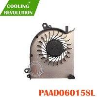 Novo original portátil gpu ventilador de refrigeração para msi gs60 paad06015sl 0.55a 5vdc n293