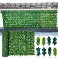 Artificial leaf fence net Artificial Hedges Fence and Faux Ivy Vine Leaf Decoration for Outdoor Decor, Garden