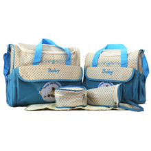 New Mummy Bag Five-Piece Multi-Function Large Capacity Fashion Simple Waterproof Cartoon Shoulder Diagonal Package