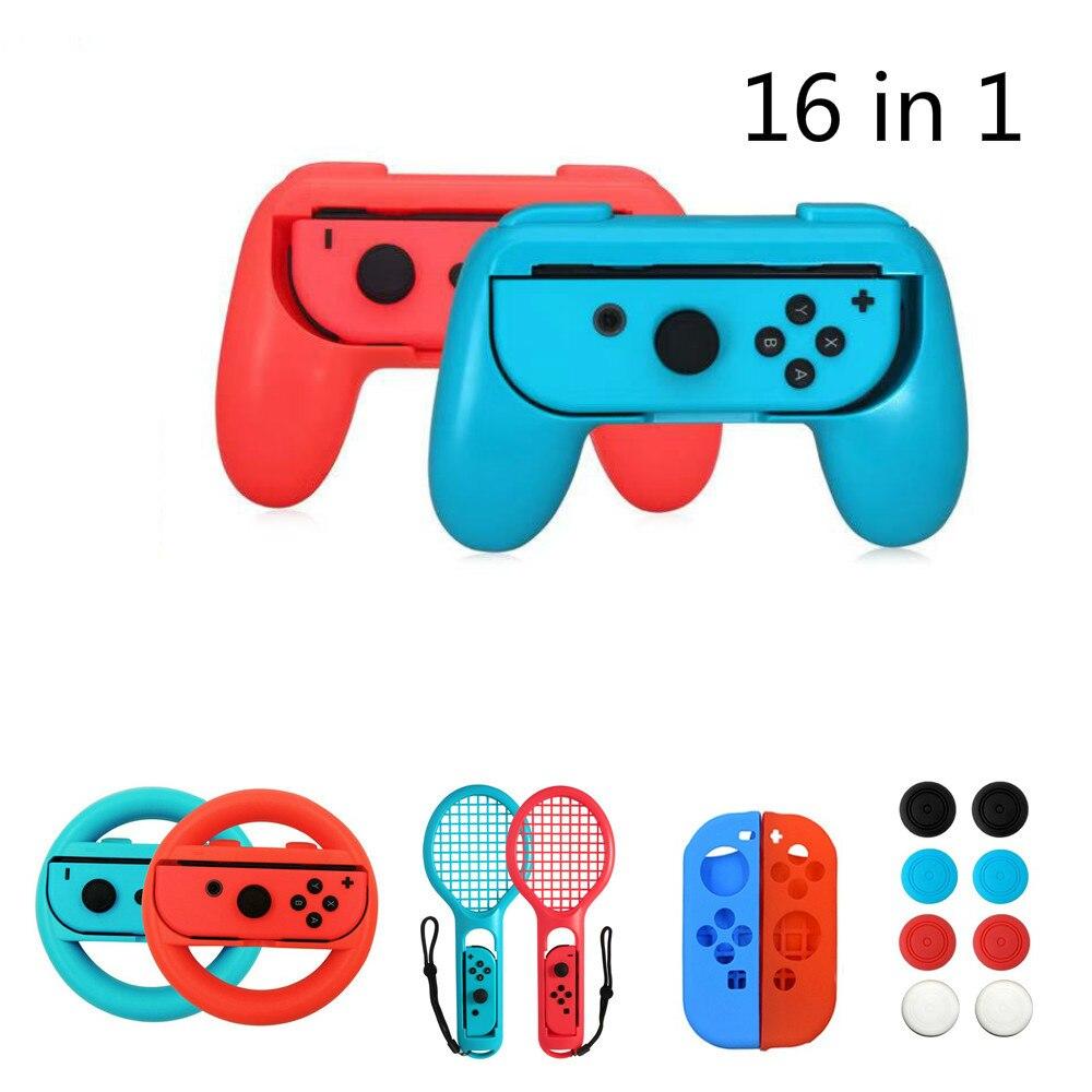 2 unids/set agarres para el mando Joy-Con funda para Nintendo Switch Joy Con mango NS n-switch accesorios de consola de juegos