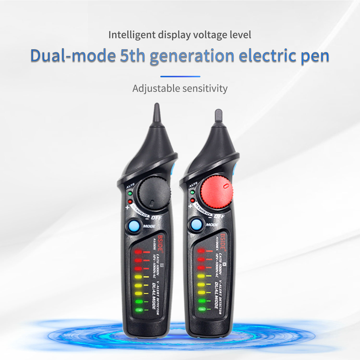 Non Contact Voltage Detector Tester BSIDE AVD06 Socket Wall AC Power Outlet Live Test Pen Indicator 12~1000V match Multimeter|Voltage Meters| - AliExpress