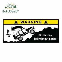 EARLFAMILY-pegatinas de vinilo de advertencia para coche, pegatina de vinilo para coche Wrangler Cherokee Renegade, gráfico divertido para todoterreno, 13cm x 5,5 cm