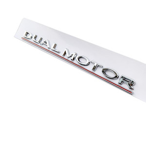 Image 5 - Per Tesla Modello 3 Doppio Motore Decalcomanie 3D ABS Auto Posteriore Tronco Emblema Adesivo Distintivo