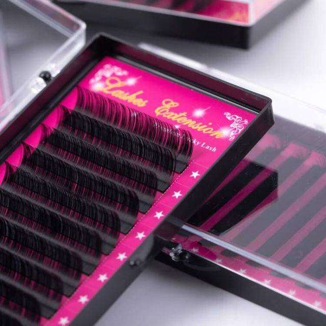 Lucky Lash 8~15mm and mix premium natural synthetic mink individual eyelash extension makeup cilia professional 1