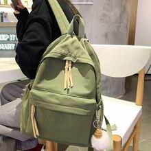 Women Backpack School-Bag HOCODO Student-Bag Teenage-Girls Fashion Solid Nylon for Simple